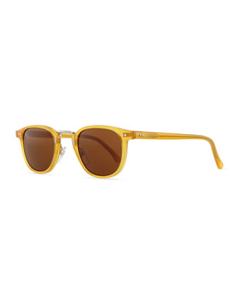 Tribeca Round Sunglasses, Blonde