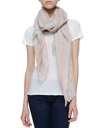 Shine Brightly Linen Scarf, Bamboo