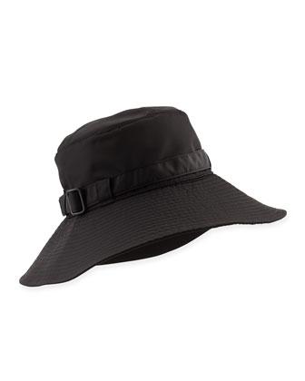 Kaya Water-Repellant Rain Hat, Black