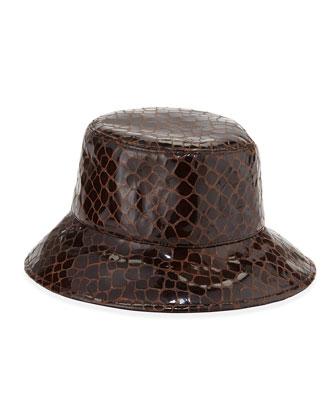 Water-Repellant Rain Hat, Walnut