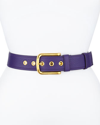 Calfskin Leather Belt, Violet (Viola)