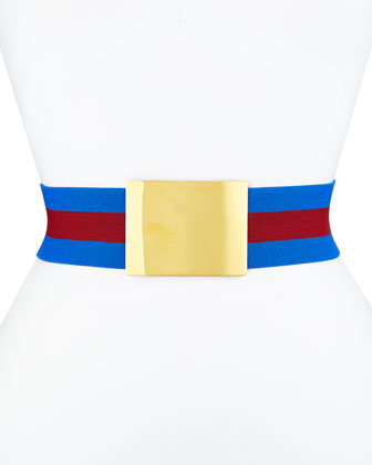 Cap-Sleeve Wide-Striped Sweater, Blossom-Print Long Handkerchief Skirt & ...