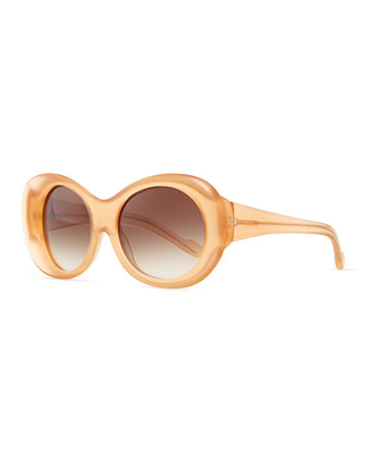 Plastic Sunglasses, Peach