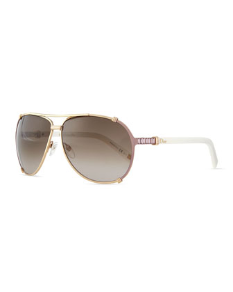 Chicago 2 Strass Aviator Sunglasses