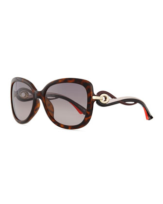 Twisting Diorissimo Sunglasses, Brown