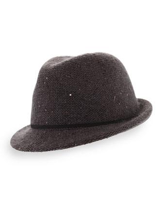 Shimmery Fedora Hat