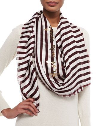 planetary stripe large square scarf