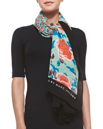 Spliced Jerrie Rose Scarf, Jade