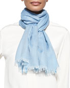 Cashmere-Blend Cangiante Semi-Sheer Stole
