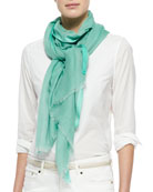 Cangiante Sheer Stole, Green