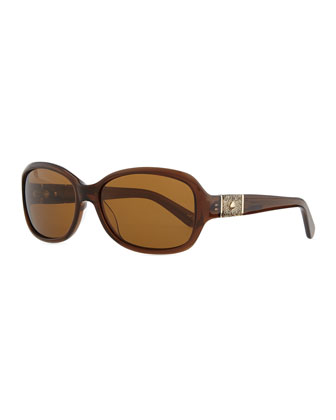 cheyenne rectangle sunglasses, brown