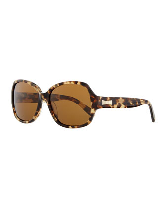 laney tortoise sunglasses, camel