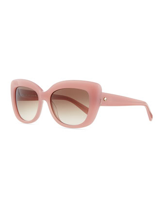ursula cat-eye sunglasses, rose jade