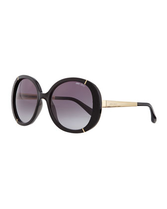 Millie Bug Eye Sunglasses, Black