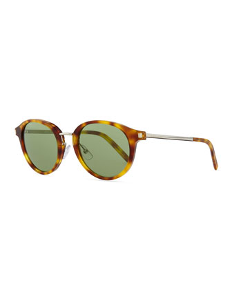 Classic Round Sunglasses, Yellow Havana