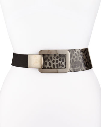 Spotted Waist Belt with Interlocking Buckle