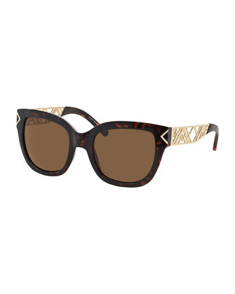 Havana & Golden Chevron Sunglasses