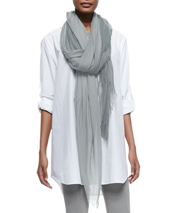 Rolled-Cuff Jersey Cowl-Back Top, Cuffed Linen-Blend Pants & Accessories