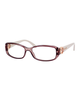 Rectangle Fashion Glasses, Mauve