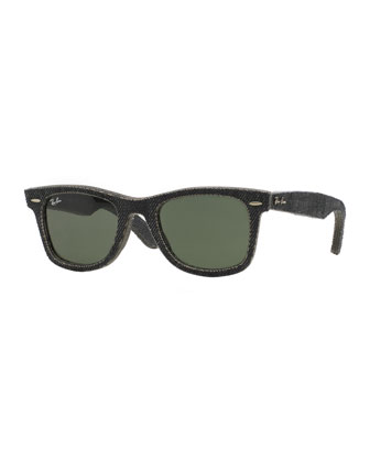 Black Denim Wayfarer Sunglasses