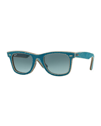 Light Blue Denim Wayfarer Sunglasses