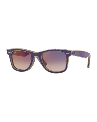 Violet Denim Wayfarer Sunglasses