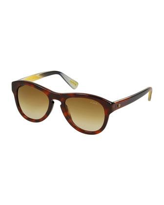 Butterfly Tortoise Sunglasses with Keyhole Nosebridge