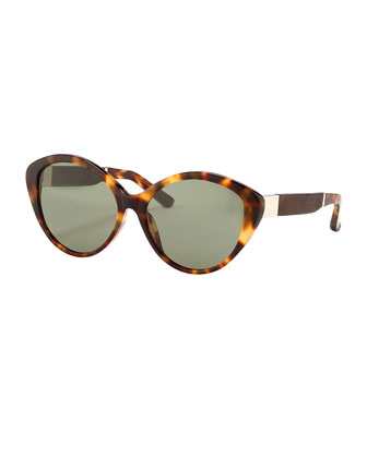 Tortoise Cat-Eye Sunglasses, Brown/Black