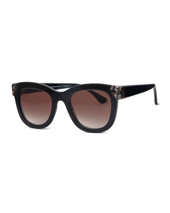 Chromaty Square Sunglasses, Black