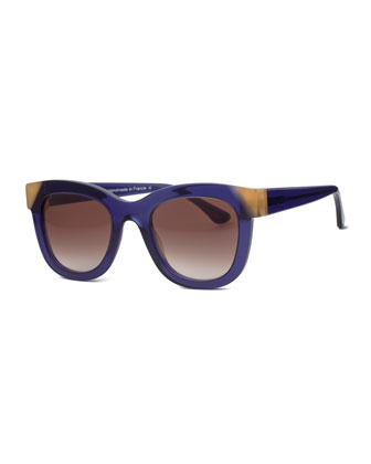 Chromaty Square Sunglasses, Blue