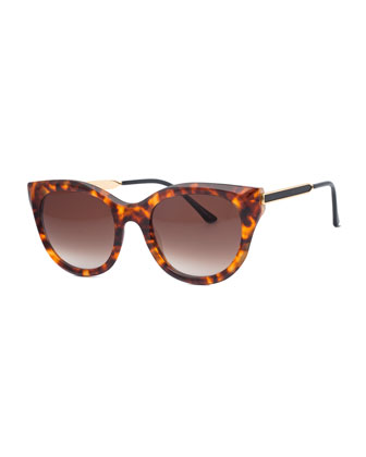 Tortoise Acetate Butterfly Sunglasses