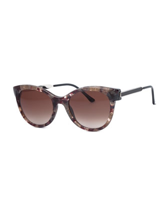 Flirty Butterfly Vintage Sunglasses, Gray/Multi
