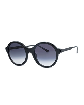Gifty Round Sunglasses, Black