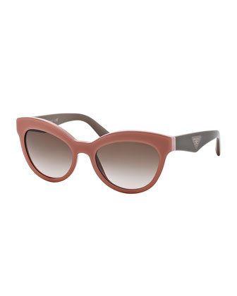 Acetate Cat-Eye Sunglasses, Pink