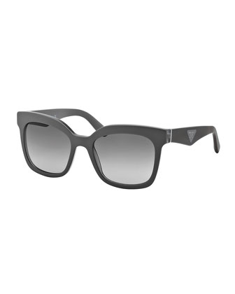 Square Sunglasses, Gray