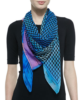 Photo Gate Printed Silk Scarf