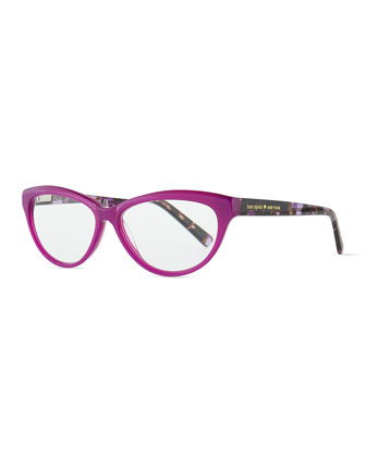abena cat-eye reader glasses, purple