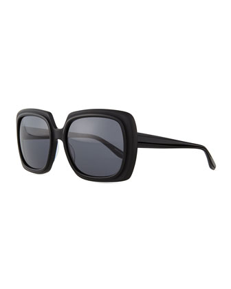 Renaissance Square Zyl Sunglasses, Black
