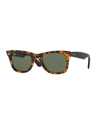 Classic Wayfarer Sunglasses, Black/Havana Tortoise