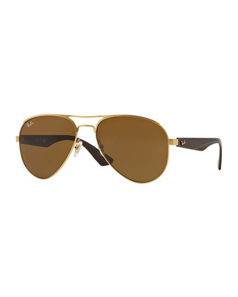 Aviator Sunglasses, Dark Brown
