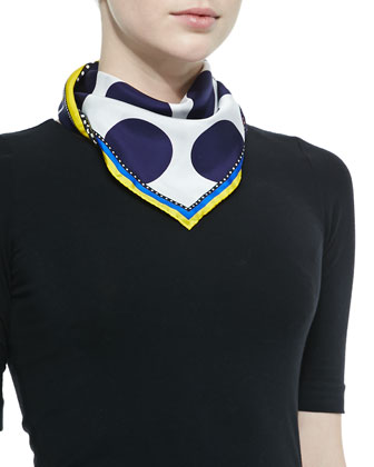 Medallions Double Face Scarf