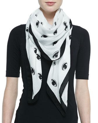 New Eyes Printed Scarf
