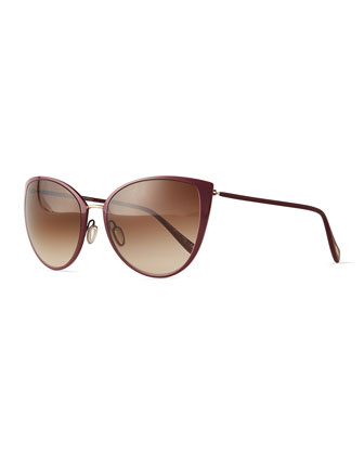 Jade Cat-Eye Sunglasses, Magenta