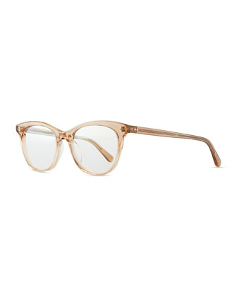 Jardinette Acetate Fashion Glasses, Blush