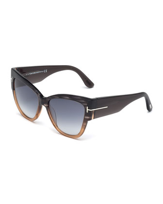 Anoushka Butterfly Sunglasses, Black