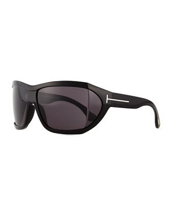 Sedgewick Wrap Sunglasses, Black
