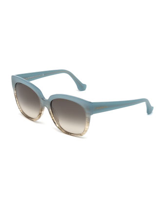 Butterfly Acetate Sunglasses, Blue Brown