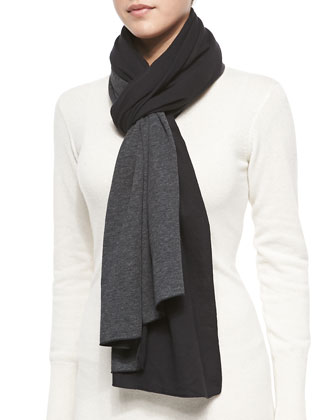 Double-Face Cotton Cashmere Scarf