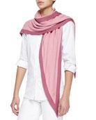 Summer Twice Knit Triangular Scarf, Pink