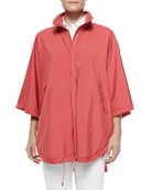Vail Reversible Wind Storm Cape, Pink